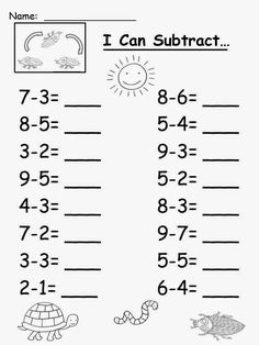 Free: Eric Carle's The Very Clumsy Click Beetle Subtraction Sheet. For Educatio… Free: Eric Carle's The Very Clumsy Click Beetle Subtraction Sheet. For Educatio…,Çıkarma işlemi Free: Eric Carle's The Very Clumsy Click Beetle Subtraction. Kindergarten Addition Worksheets, Subtraction Kindergarten, First Grade Math Worksheets, English Worksheets For Kids, Printable Math Worksheets, Preschool Worksheets, Subtraction Worksheets, 1st Grade Math, Worksheets For Kindergarten
