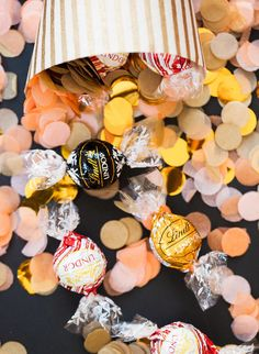 Add LINDOR truffles to your DIY party confetti to make the celebration extra sweet!