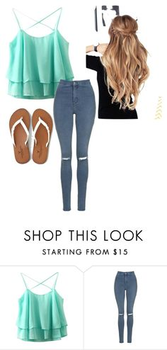 """""""Cute & Casual"""" by maya-rose16 ❤ liked on Polyvore featuring Topshop and American Eagle Outfitters"""