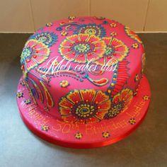 First mendhi/henna style cake Henna Style, Beautiful Cakes, Desserts, Food, Tailgate Desserts, Deserts, Essen, Postres, Cake Art