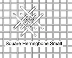 I ❤ embroidery . . . Square Herringbone small, Stitch of the Month January 2010 ~By Needlelace
