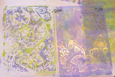 Creative Expressions: Gelli Plate and Embossing Folders
