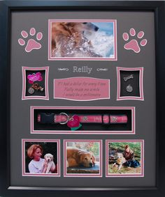 Remember your loving Pet with a custom x Pet Memorial Shadow Box display that they deserve. Our Pet shadow boxes are unlike anything you have seen before. Pet Memorial Frames, Dog Memorial, Memorial Gifts, Memorial Ideas, Dog Picture Frames, Dog Frames, Dog Shadow Box, Shadow Box Frames, Shadow Box Memory