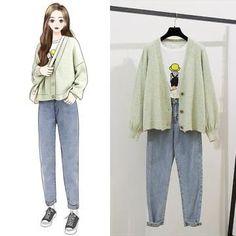 Korean Girl Fashion, Korean Street Fashion, Ulzzang Fashion, Look Fashion, Fashion Drawing Dresses, Fashion Illustration Dresses, Kpop Fashion Outfits, Korean Outfits, Cute Casual Outfits