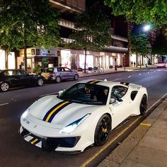 This Ferrari pista is absolutaly beutiful 😍🔥  Luxury Sports Cars, Cool Sports Cars, Best Luxury Cars, Sport Cars, Cool Cars, Bmw, Audi, Carros Turbo, Bugatti