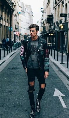 All black street style hipster look