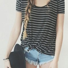 Simple everyday outfit, very casual and cute Moda Fashion, Teen Fashion, Fashion Shoes, Fashion Ideas, Mode Style, Style Me, Real Style, Ootd, Trends