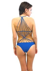 Mikoh Swimwear Seychelles One Piece Swimsuit Deep Sea