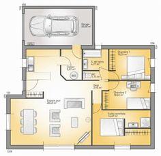 Plan maison neuve à construire - Maisons France Confort Concept 2020 - 99