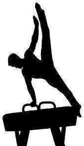 Image result for men's gymnastic silhouette pommel horse