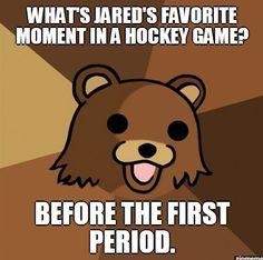 Jared from Subway loves hockey