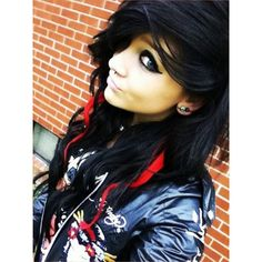 Scene Emo Girls ❤ liked on Polyvore featuring hair, people, girls, emo and hair styles