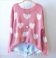 sweater cute fashion hearts shorts ariana grande