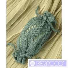 """""""Pluie Soap Holder"""" FREE Knitting Pattern . Add some fab soap and it's a beautiful gift."""