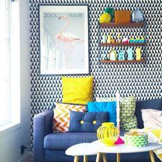 Salones decorados con papel pintado   Decoración Hogar, Ideas y Cosas Bonitas para Decorar el Hogar
