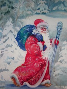 Received from Russia (SvettOK) Christmas card Tag