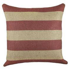 Beachcrest Home Marlin Burlap Throw Pillow Color: