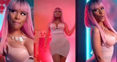 Nicki Minaj Rocks Signature Barbie Pink Wig For New Video 'The Night Is Still Young' [ Photos]