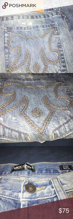 Distressed Men's Jeans Light Blue Distressed Men's Jeans. No missing buttons. 34x34 MEK Jeans Straight
