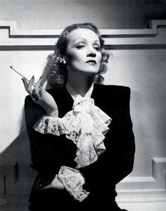 """Marlene Dietrich, """"Angel"""", 1937Costume by Travis Banton  (viaelegancehasnames)"""