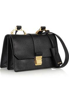 Miu Miu, Madras textured-leather shoulder bag