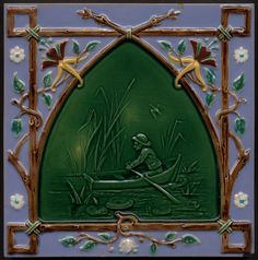 Minton,Tile (Erdinç Bakla archive) Date:Unknown Art Nouveau Tiles, Art Nouveau Design, Antique Tiles, Vintage Tile, Tile Art, Mosaic Tiles, Minton Tiles, Art For Art Sake, Decorative Tile
