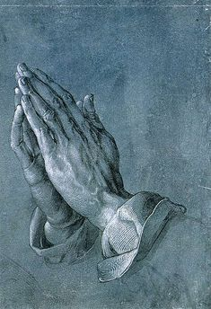 Betende Hände, in English Praying Hands (also known as Studie zu den Händen eines Apostels in German, engl. Study of the Hands of an Apostle), is a famous Pen-and-ink drawing by the German printmaker, painter and theorist Albrecht Dürer made circa Albrecht Durer, Albert Dürer, Städel Museum, Hans Holbein, Catholic Prayers, Gravure, Religious Art, Les Oeuvres, Painting & Drawing