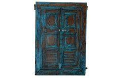 Armoire 2 portes en bois de manguier et fer lilian prix promo vente unique 44 - Armoire prix discount ...