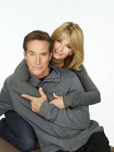 Drake Hogestyn and Deidre Hall who play John and Marlena Black...