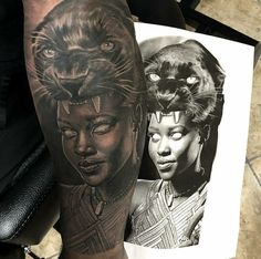 My African Warrior tattoo by Gary Graves at Graves Ink Studio here in San Antonio, Texas Torso Tattoos, Body Art Tattoos, Sleeve Tattoos, 3d Tattoos, Tattos, African Warrior Tattoos, Africa Tattoos, Tattoo Guerreiro, African Sleeve Tattoo