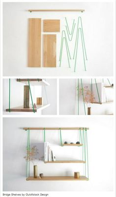 Bridge Shelves by Outofstock Design I could make this! Pft -me