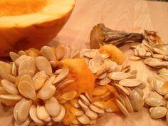 Roast pumpkin and roasted pumpkin seeds - win and win!
