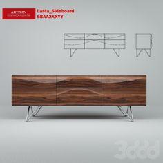 3d модели: Тумбы, комоды - Lasta_Sideboard_SBAA2XXYY
