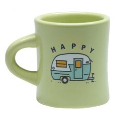 Life is Good Happy Camper Diner Mug
