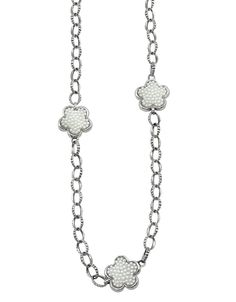 Love Me, Love Me Not White Mother of Pearl Link Necklace