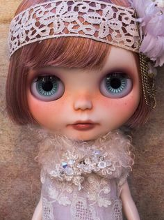 Zelda ~ The Great Gatsby inspired custom Blythe Doll is looking for a home this week. Be sure to find out more about her here: ZELDA via I HAVE WINGS ~ Doll Couture & Custom Doll Atelier ~