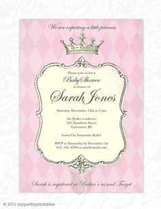 Princess invite or baby shower