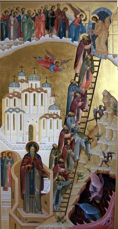 Russian Icons, Picture Icon, Christian Religions, Byzantine Icons, Russian Orthodox, Egg Art, Stairway To Heaven, Orthodox Icons, Sacred Art