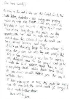 Eira, 12, Australia #smallvoices #respect #childfund
