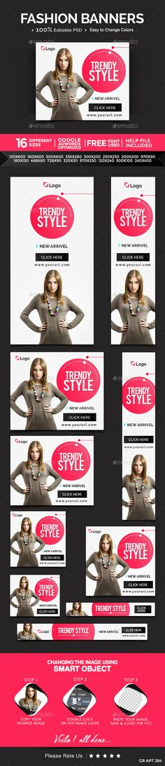 Fashion Banners Template PSD | Buy and Download: http://graphicriver.net/item/fashion-banners/10059739?ref=ksioks