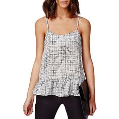 Chicnova Fashion Round Neckline Striped Tank (£11) ❤ liked on Polyvore featuring tops, striped top, white tops, striped tank top, stripe tank e striped tank