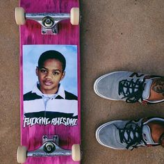Fucking Awesome Tyshawn Class Photo deck photo by @wzahk @fuckingawesome @nbnumeric @independenttrucks @spitfirewheels