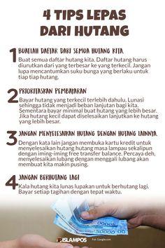 4 Tips Lepas dari Hutang Reminder Quotes, Self Reminder, Me Quotes, Qoutes, Motivational Quotes, Muslim Quotes, Religious Quotes, Islamic Inspirational Quotes, Islamic Quotes