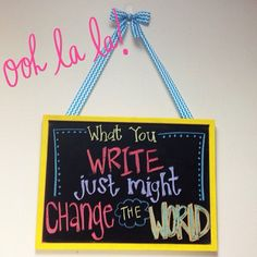 Decorative Chalkboard.  #Create2Educate #Sweepstakes. Enter your own project for a chance to win a $50 gift card to Michaels.   Learn more:  https://www.facebook.com/Michaels?sk=app_584051421645085