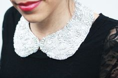 DIY Rhinestone Bib Necklace | In Honor Of Design