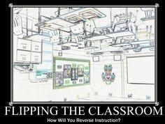 Divertida imagen para definir la metodología Flipped Classroom #FlippedClassroom #docentes #educacion