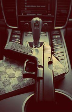 All you need in life. LV, Gun + Car Live The LV Life http://lvpremium.thelvlife.com/