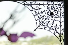 Spooky Window Vinyl Corner  Add a little eeriness to your home with vinyl in your window.  This home décor vinyl is made using a Cricut Craft Room™ exclusive.