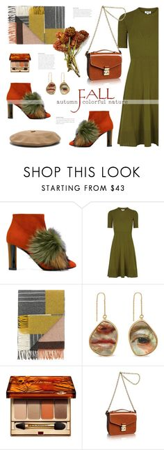 """The breath of autumn"" by edita1 ❤ liked on Polyvore featuring Pollini, Kenzo, Mulberry, Clarins, Louis Vuitton and Janessa Leone"