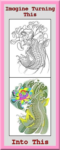 Coloring Book Pages Of Fish : Koi fish coloring book 24 printable pages outlines